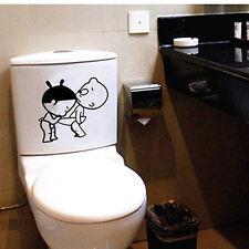 DIY Sticker Autocollant WC Cuvette Toilette Amovible Salle Bain Humour Déco Neuf