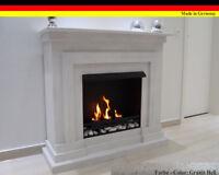 GELKAMIN ETHANOLKAMIN KAMIN FIREPLACE MODELL BERLIN Deluxe Royal Granit hell