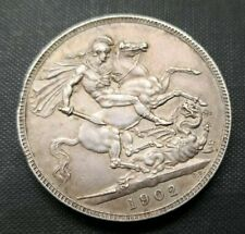 More details for edward vii 1902 silver bare head crown british coin (324