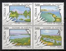 ITALIA Gomma integra, non linguellato 1987 sg1956-1959 Protezione della natura-fiumi e laghi