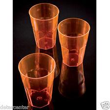240 Bicchieri Havana cl.30 in Plastica Polistirene Arancione per Feste Party