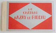 vintage postcard set Le Chateau D'Azay Le Rideau  24 cards