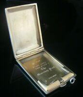 Silver Matchbook Holder, THE MORNING POST, London 1925, Goldsmiths & Silversmith