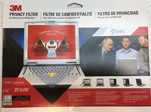 """3M PF14.0W 14"""" Notebook LCD Widescreen Privacy Filter, Black ~ NEW SEALED"""