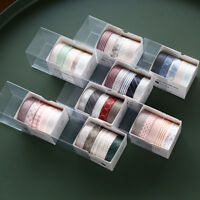5 Roll DIY Washi Tape Adhesive Paper Masking Scrapbook Diary Sticker + Gift Box