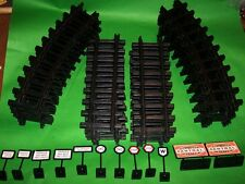 NEW FULL SET EZTEC Track G Scale TRAIN  22 PCS 12 Curved 10 Straight & SIGNS LOT
