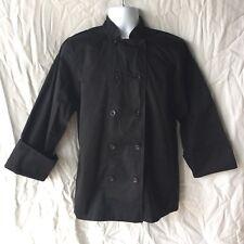 Chef Works Black Bastille Jacket Coat Sz Small Long Sleeve Euro 46-48 Uk 36-38