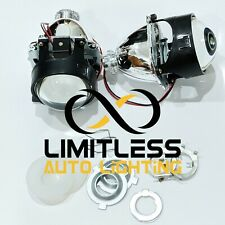 "2x 2.5"" Mini H1 8.1 HID Bi-Xenon Projector Lens Bulb HI/LO Beam Light Lamp"