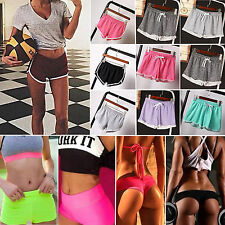 Womens Hot Pants High Waist Fitness Shorts Athletic Gym Yoga Sports Summer Beach