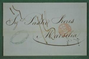MALTA PRE STAMP COVER 1848 TO MARSEILLE FRANCE   (Z48)
