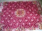 SILK VELVET - DOUBLE BED COVER good condition and solid