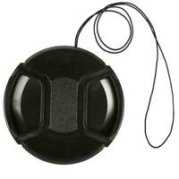 1* 55mm Lens Cap center pinch snap on Front Cover string For Canon Nikon AU S9R5