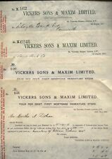 More details for 1907-08 vickers sons & maxim ltd four share interest warrants