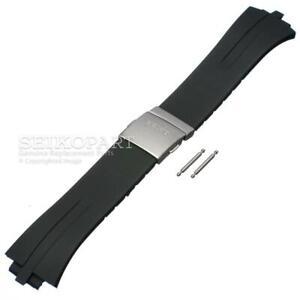 Seiko Black Rubber Watch Strap Kinetic SKA207P SNL013P 5M62-0AL0 7L22-0AA0 Band