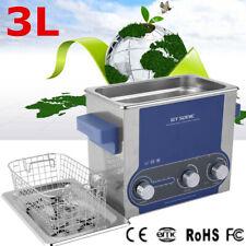 3L Lavatrice Pulitore ad Ultrasuoni Pulitrice Vasca Ultrasuoni Cleaner Timer NEW