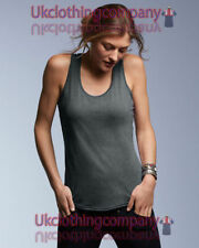 Hip Length Polyester Sleeveless Basic T-Shirts for Women