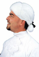 Morris Costumes Men's Cotton Fabric Historic Colonial White Ponytail Wig. CA76