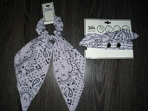 Justice multi wear HEADBAND & bow scrunchie set new lavender bandana