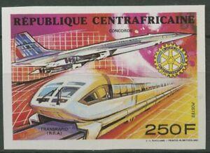 Zentralafrikanische Republik 1990 Transrapid Concorde 1445 B postfrisch