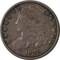 1835 Capped Bust Dime F Fine 89.24% Silver 10c US Type Coin Collectible