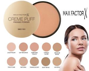 Max Factor Creme Puff Compact Pressed Face Powder 21g - Choose Your Shade