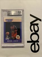 Michael Jordan Starting Lineup BGS 8.5 Kenner ROOKIE YEAR CARD 1988 RARE 9.5 SUB