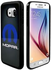 Cell Phone Case Cover Skin Samsung Galaxy S6 MOPAR Logo Grays Black Blue White