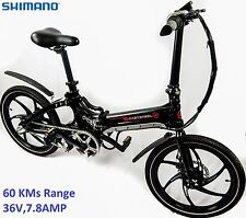 Fastwheel Foldable Electric Bicycle 36V 7.8AMP Mid-Drive Pedal Assist Shimano
