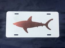 "Solid ""Cool Copper ®"" Shark Profile on Aluminum License Plate"