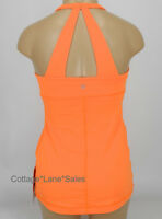 NEW LULULEMON Scoop Me Up Tank Top 4 Pizzaz Orange NWT Gym Run Yoga FREE SHIP