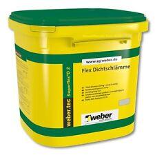 (GP.7,17€/Kg) 6 Kg weber.tec Superflex D 2 Flexible Dichtschlämme Abdichtung
