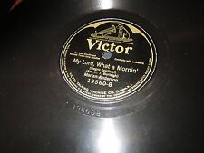 78RPM Victor 19560 Marian Anderson, Nobody Knows de Trouble I've Seen/ Lord V+E-