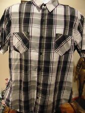 Tony Hawk Men's plaid short sleeve shirt XXL