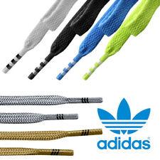 Mens, Womens Adidas Originals Flat Shoe Laces Solid Stripe Trefoil For Trainers