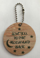 Love You To The Moon And Back Mdf Handbag Charm Key Chain Opening Ball Chain