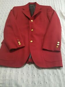 ​Brooks Brothers Golden Fleece Men's Red Sport Coat Blazer Size 40