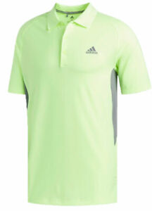 Adidas Ultimate 365 Climacool Solid Polo Golf Shirt Yellow MSRP $75.00 New NWT