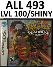 Pokemon Platinum Game Unlocked Nintendo DS lite DSi XL 3DS All 493 Shiny Forms