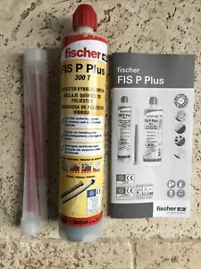Fischer FIS P Plus 300T Polyester Hybrid Resin Mortar Chemical Anchor 300ml