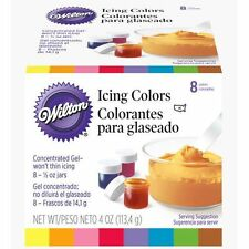 NEW WILTON 8 ICING COLOURS (1 BOX)