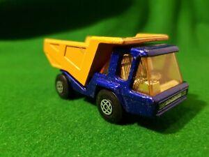 Atlas Dump Truck Blue Matchbox Lesney Superfast No.23 1975 England