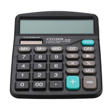 12-Digit Desktop Calculator Solar Battery Big Button Dual Power Large Display US