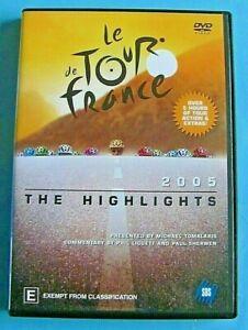 LE TOUR DE FRANCE 2005 The Highlights DVD Region 4 see below