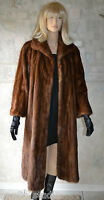 Gorgeous VTG PASTEL Brown MINK FUR COAT,  Full Length, size M , Genuine real fur