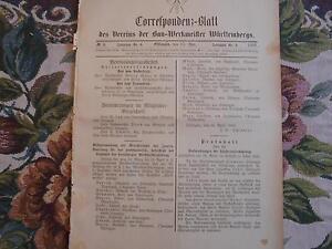 1893 ...württemberg 5 / Publicité Lanz Mannheim Tübingen