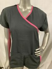 Divine Stretch By Jdm Women'S Scrub Top Black/Pink Assorted Sizes Brand New