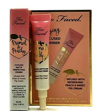 TOO FACED Primed & Peachy Cooling Matte Perfecting Primer Travel Size 5ml/.16oz