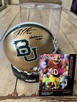 Robert Griffin III Autographed/Signed Mini Helmet Baylor Bears Heisman RG3 B