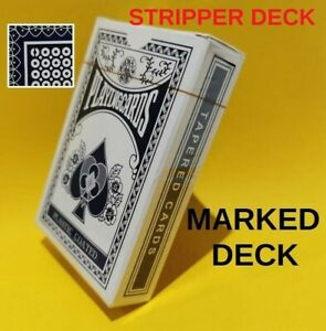 Ideal Gift! Marked Con Stipper Deck Magicians Magic Trick Tapered Playing Cards