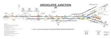 More details for british railways - replica signal box diagram - archcliffe junction - 1976